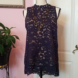Rose + Olive lace top L